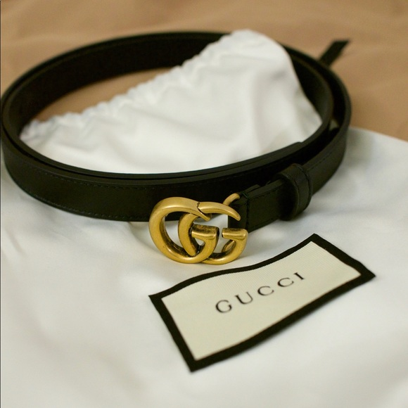 6c04bb0ac Gucci Accessories   Leather Belt With Double G Buckle 95 Cm   Poshmark